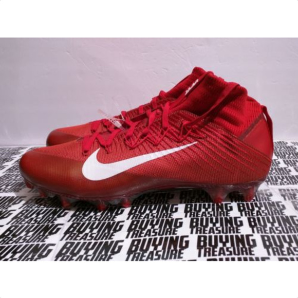 Nike Vapor Untouchable 2 Football Cleats Mens 12.5 Red Black White